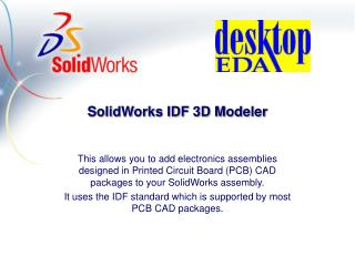 SolidWorks IDF 3D Modeler