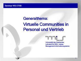 Seminar WS 07