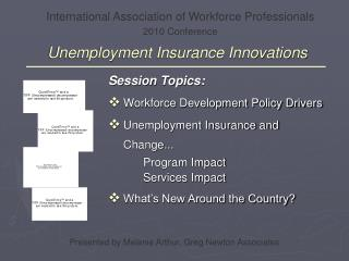 Unemployment Insurance Innovations