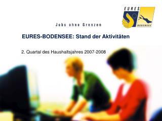 EURES-BODENSEE: Stand der Aktivit ten