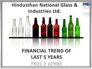 FINANCIAL TREND OF LAST 5 YEARS