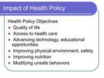 Impact of Health Policy