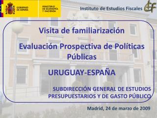 Visita de familiarizaci n Evaluaci n Prospectiva de Pol ticas P blicas URUGUAY-ESPA A  SUBDIRECCI N GENERAL DE ESTUDIOS