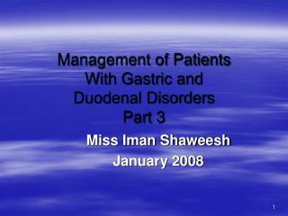 Management of Patients