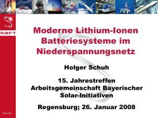 Moderne Lithium-Ionen Batteriesysteme im Niederspannungsnetz