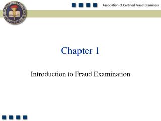 Introduction to Fraud Examination