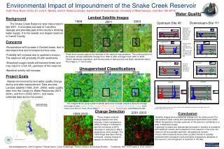 Environmental Impact of Impoundment of the Snake Creek Reservoir Keith Rice, Bryan Victor, Dr. Julie K. Bartley, and Dr.