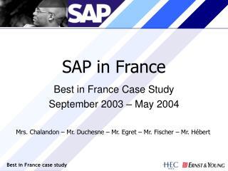 SAP in France
