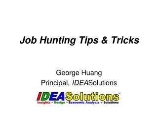 Job Hunting Tips  Tricks