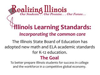 Illinois Learning Standards: Incorporating the common core
