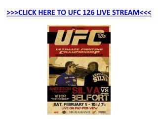 UFC 126 Live Stream