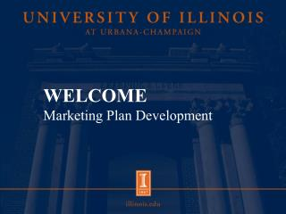 WELCOME Marketing Plan Development