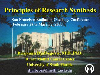 Principles of Research Synthesis