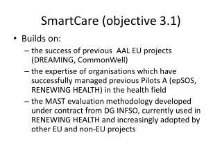 SmartCare objective 3.1