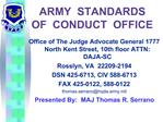 ARMY  STANDARDS  OF  CONDUCT  OFFICE