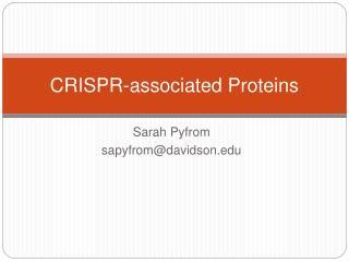 CRISPR-associated Proteins