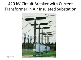 420 kV Circuit Breaker with Current Transformer in Air Insulated Substation