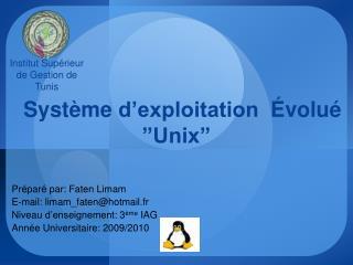 Syst me d exploitation   volu   Unix