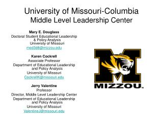 University of Missouri-Columbia Middle Level Leadership Center