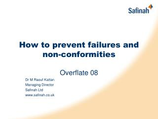How to prevent failures and non-conformities