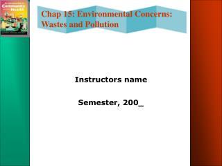 Instructors name  Semester, 200_
