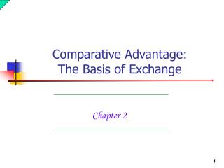 The Basis of Exchange
