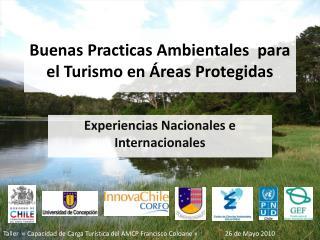 Buenas Practicas Ambientales  para el Turismo en  reas Protegidas