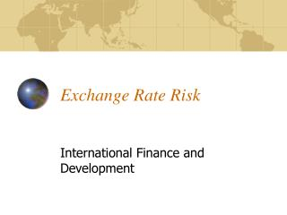 Exchange Rate Risk