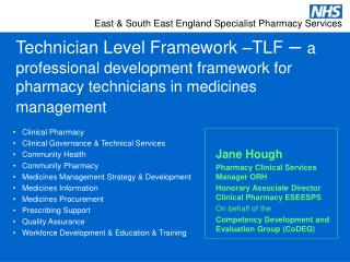 Technician Level Framework  TLF   a professional development framework for pharmacy technicians in medicines management