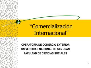 Comercializaci n  Internacional