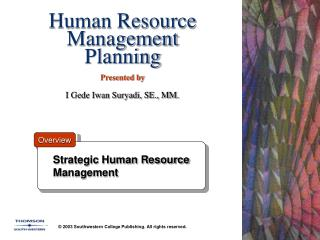 Human Resource Management Planning   Presented by