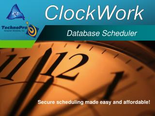 Database Scheduler