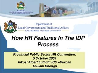 How HR Features In The IDP Process