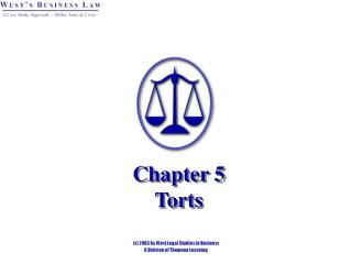 Chapter 5 Torts