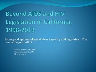 Bill for an Act Prevention and Care of HIV