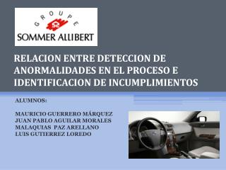 RELACION ENTRE DETECCION DE ANORMALIDADES EN EL PROCESO E IDENTIFICACION DE INCUMPLIMIENTOS