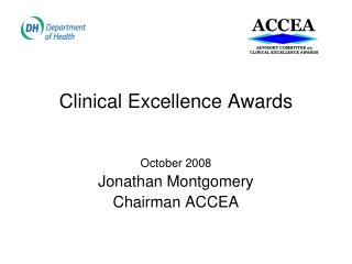 Clinical Excellence Awards