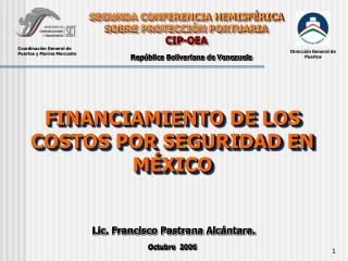 SEGUNDA CONFERENCIA HEMISF RICA SOBRE PROTECCI N PORTUARIA  CIP-OEA