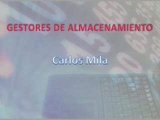 GESTOR DE ALMACENAMMIENTO