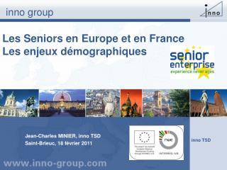 Les Seniors en Europe et en France Les enjeux d mographiques