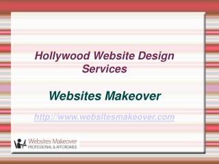 Hollywood Website Design Services