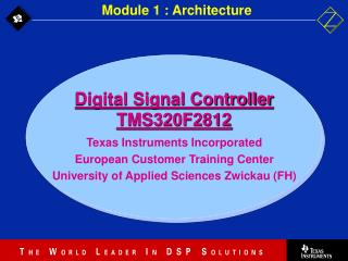 Digital Signal Controller TMS320F2812