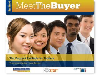 The Support Available for Tenders
