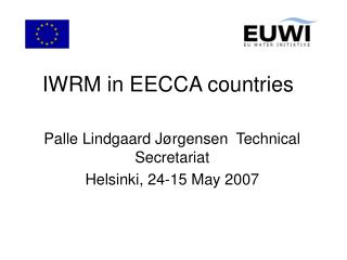 IWRM in EECCA countries