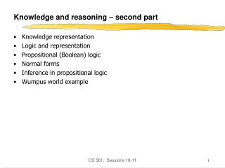 Knowledge and reasoning   second part