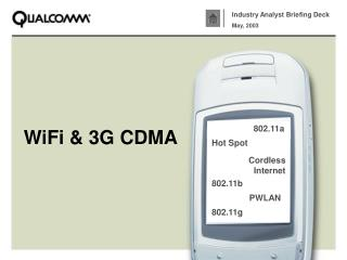 WiFi  3G CDMA
