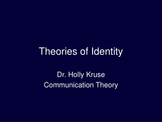 Identity and Patterns of Communication