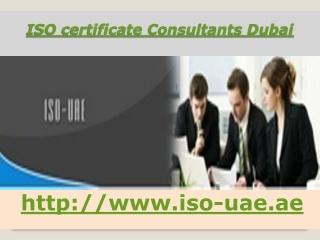 ISO certificate Consultants Dubai,UAE