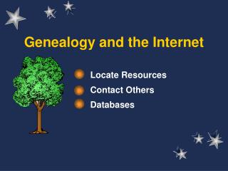 Genealogy and the Internet