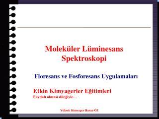 Molek ler L minesans  Spektroskopi   Floresans ve Fosforesans Uygulamalari